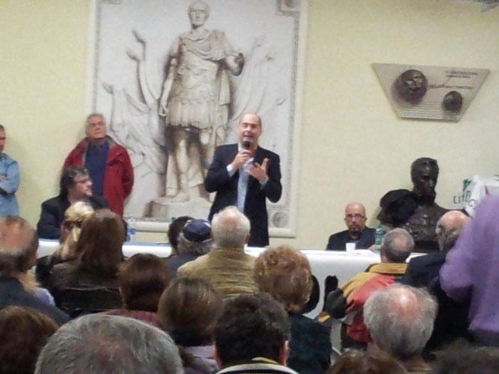 Nicola Zingaretti nella sua recente visita in IV Municipio alla Sala Agnini
