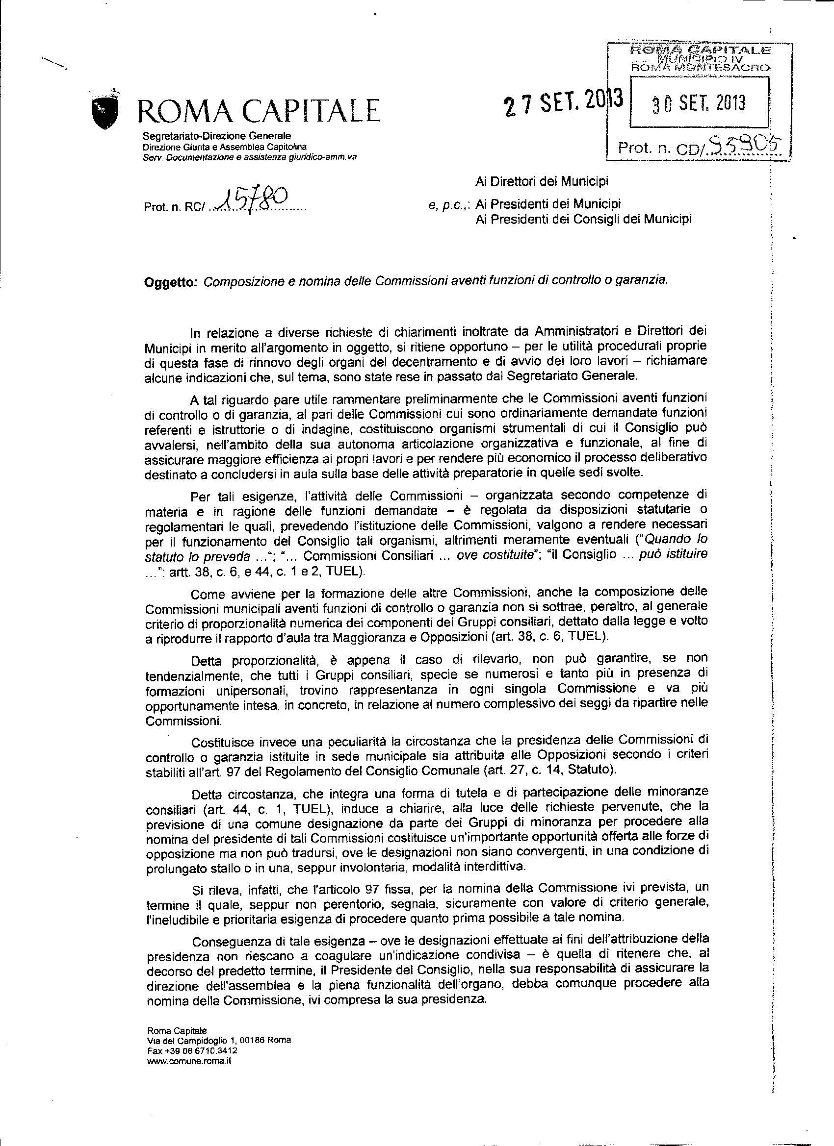 Trasparenza nota segretariato generale0001